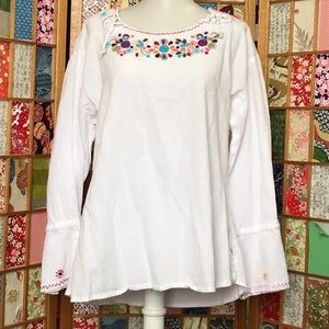 Tops - Handmade Floral Blouse | L